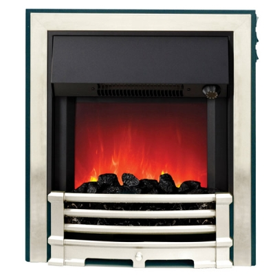 Be Modern Aspen Inset LED Electric Fire - Chrome