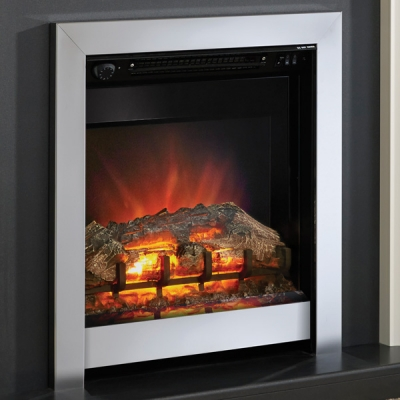 Be Modern Athena Inset LED Electric Fire - Chrome