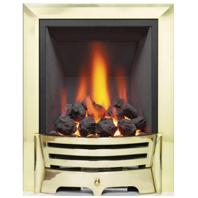 Be Modern Mayfair Inset LED Electric Fire - Brass