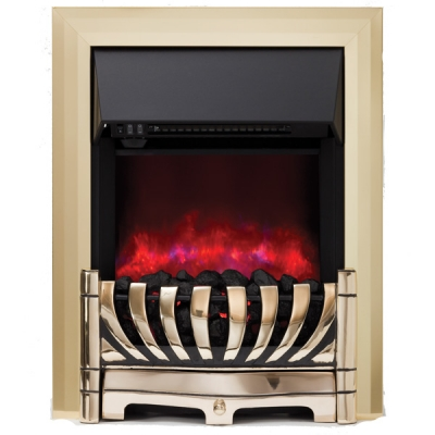 Be Modern Lexus Inset LED Electric Fire - Brass