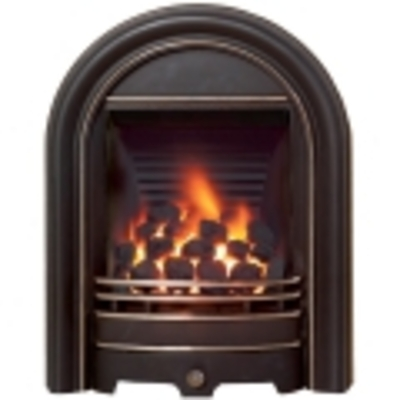 Be Modern Abbey Slimline Inset Gas Fire - Black Highlight 3.1kw