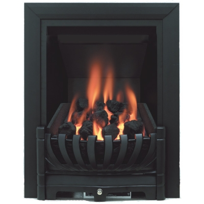 Be Modern Avantgarde Slimline Inset Gas Fire - Black 3.1kw