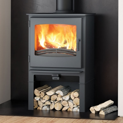Evolution Desire 7kw Defra Multifuel Stove With Log Store