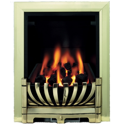 Be Modern Avantgarde Slimline Inset Gas Fire - Brass 3.1kw