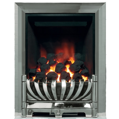Be Modern Avantgarde Deepline Inset Gas Fire - Chrome 3.5kw