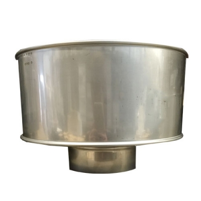 "6"" (150mm) Stainless Steel Anti-Wind Cowl"