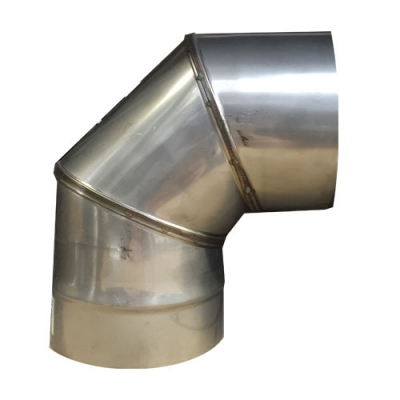 "7"" (175mm) Stainless Steel 90 Degree Elbow"