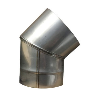 "7"" (175mm) Stainless Steel 45 Degree Elbow"