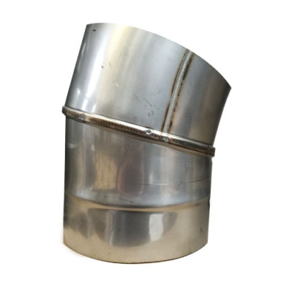 "8"" (200mm) Stainless Steel 15 Degree Elbow"