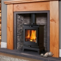 Flavel Rochester 5kw Multifuel Wood Burning Stove (Black Trim)