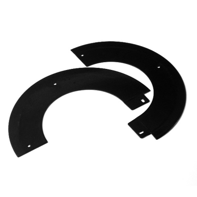 "Split Angled Rosette Collar 5"" (125mm)  - Matt Black"