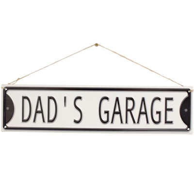 La Hacienda Embossed Steel Sign - Dad's Garage