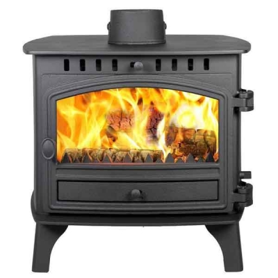 Hunter Herald 8 - 11.5kw Double Sided, Double Depth Wood Burning Stove