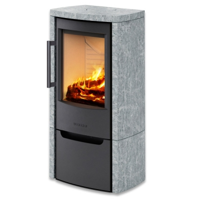 Wiking Miro 4 4.9kw Defra Wood Burning Stove With Soapstone Cover