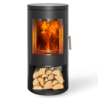 Opus Melody 5kw Defra Wood Burning Stove With Log Store