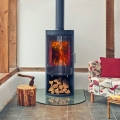 Opus Melody 5kw Defra Wood Burning Stove With Log Store & Glass Door