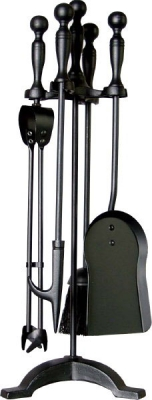 Companion Set All Black, Ball Top