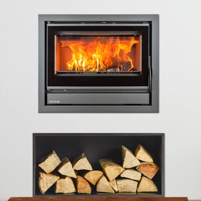 Opus Tempo 70 5kw Defra Wood Burning Inset Stove