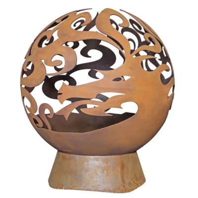 La Hacienda Dragon Fire Globe - Naturally Oxidised