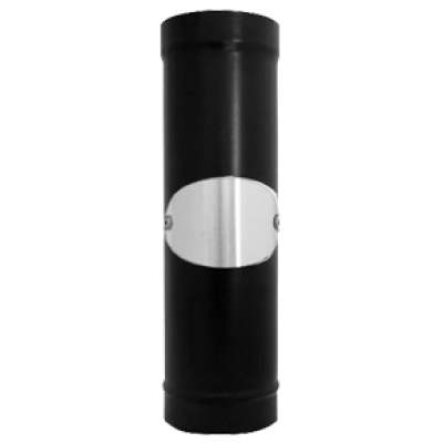 "Vitreous Enamelled Flue Pipe with door 5"" (Length 600mm)"