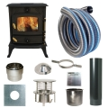 Slowburn Z2 - 5kw Log Stove and Complete  Flue Package
