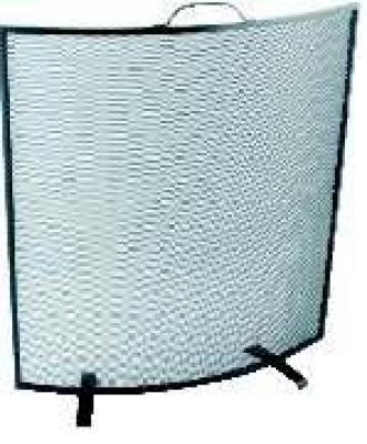 Fire Screen, Curved Black