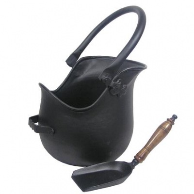 Inglenook Premium Black Coal Bucket With Shovel