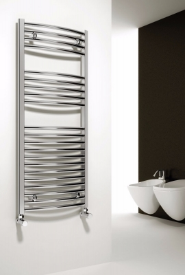 Reina Diva 1800 X 500 Steel Chrome Modern Vertical Bathroom Towel Rail and Radiator