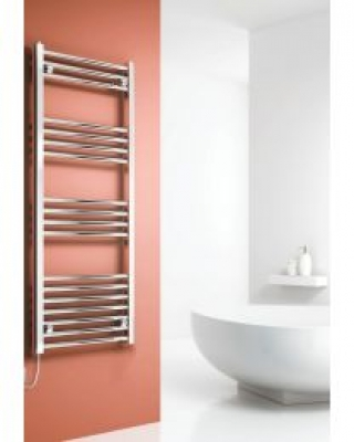 Capo 800 X 400 Electric Chrome Flat Towel Rail