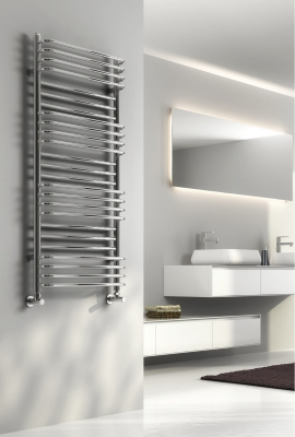 Reina Marco 1100 X 500 Steel Modern Vertical Bathroom Towel Rail and Radiator