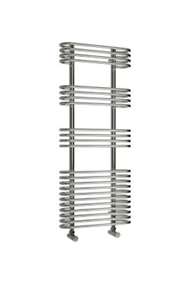 Reina Mirus Steel Contemporary Vertical Bathroom Towel Rail and Radiator - Chrome