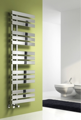 Reina Sesia 1500 X 500 Steel Contemporary Vertical Bathroom Panelled Towel Rail and Radiator