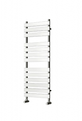 Reina Trento Steel Contemporary Vertical Bathroom Panelled Towel Rail and Radiator - Chrome