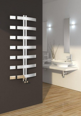 Reina Riesi 1200 X 600 Stainless Steel Vertical Bathroom Panelled Towel Rail and Radiator