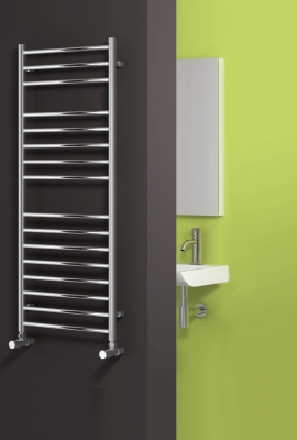 Reina Luna 1200 X 350 Stainless Steel Modern Vertical Bathroom Towel Rail and Radiator