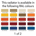 Reina Colona 600 X 1190 (2 columns) Steel Traditional Horizontal Radiator - RAL Colours
