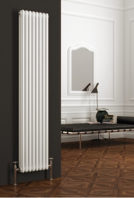Reina Colona 1500 X 290 (3 columns) Designer Steel Traditional Vertical Radiator - RAL Colours