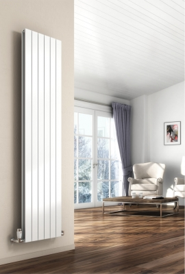 Reina Flat Double 1800 X 366 Designer Steel Modern Vertical Panelled Radiator - RAL Colours