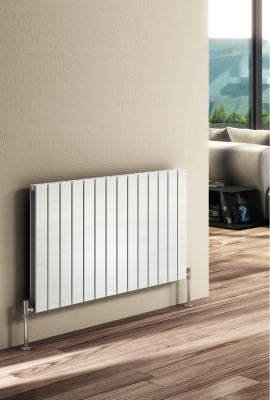 Reina Flat Double 600 X 1402 Designer Steel Modern Horizontal Panelled Radiator - RAL Colours