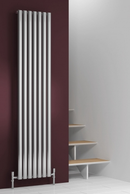 Reina Nerox Single 1800 X 413 Designer Polished or Brushed Stainless Steel Vertical Radiator