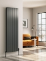 Reina Casina Single Vertical 1800 x 375 Designer Aluminium Contemporary Panelled Radiator