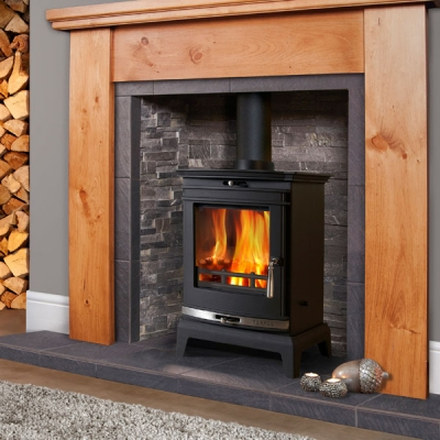 Flavel Rochester 5kw Multifuel Stove (Chrome Trim)