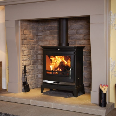 Flavel Rochester 7kw Multifuel Stove (Chrome Trim)