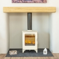 Mendip Ashcott 4.7kw Defra Multifuel Stove - Ivory Painted