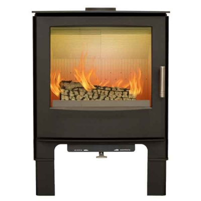 Mendip Woodland MK4 5kw Defra Convection Wood Burning Stove With Log Store
