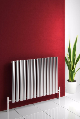 Reina Nerox Single 600 X 826 Designer Polished or Brushed Stainless Steel Dual Fuel Horizontal Radiator