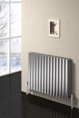 Reina Nerox Double 600 X 1180 Designer Polished or Brushed Stainless Steel Dual Fuel Horizontal Radiator