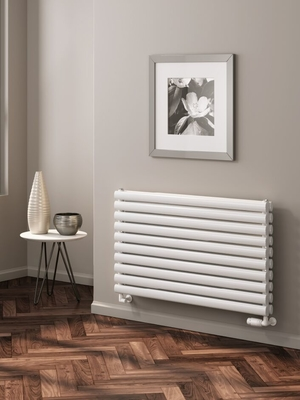 Reina Nevah Single 590 X 1200 Designer Steel Dual Fuel Horizontal Radiator - RAL Colours