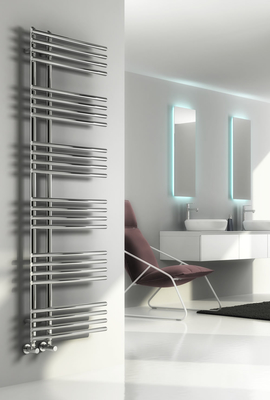 Reina Elisa 1550 X 500 Steel Dual Fuel Modern Vertical Bathroom Towel Rail and Radiator