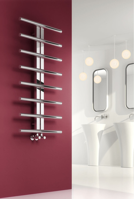 Reina Pizzo 1000 X 600 Stainless Steel Dual Fuel Contemporary Vertical Bathroom Towel Rail and Radiator